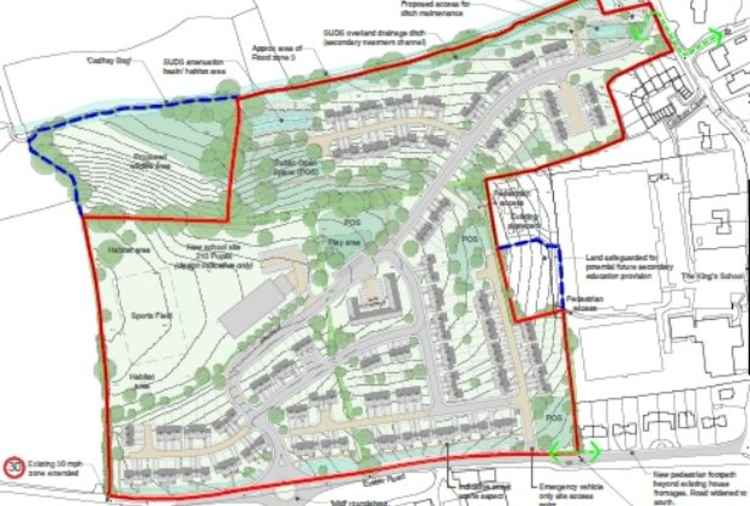 The site of the proposed housing and school at Thorne Farm