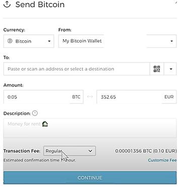 phí chuyển Blockchain