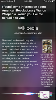 Students can use Siri for research. She will even read aloud the information which is great for younger students!