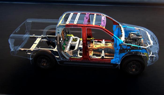 โครงสร้างใหม่ Isuzu Dynamic Drive Platform ที่เป็นตัวถังเสริมเหล็ก