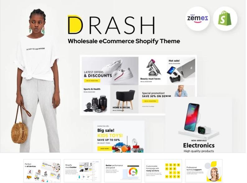 Drash - Shopify wholesale theme