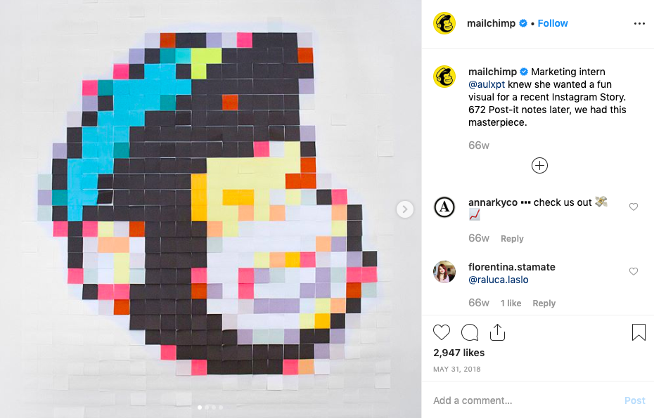 mailchimp instagram post