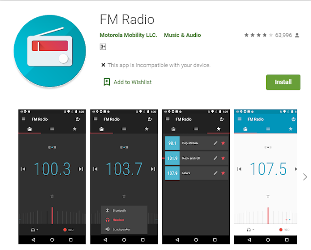 fm radio apps without using intenet