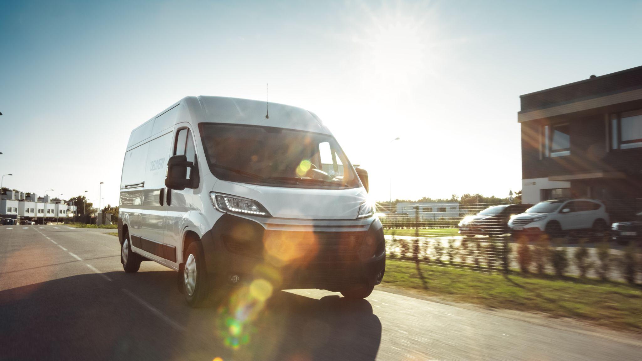 A new delivery van