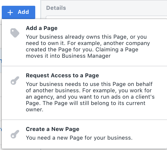 Facebook ad campaign setting page.