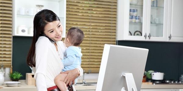 cách kiếm tiền cho mẹ bỉm sữa