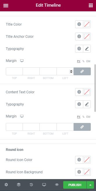 Horizontal elementor timeline widget