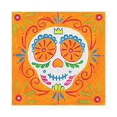 canvas painting design - Junior Sugar Skull