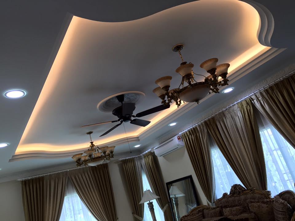 Mẫu 05: Trần thạch cao phòng khách tân cổ điển