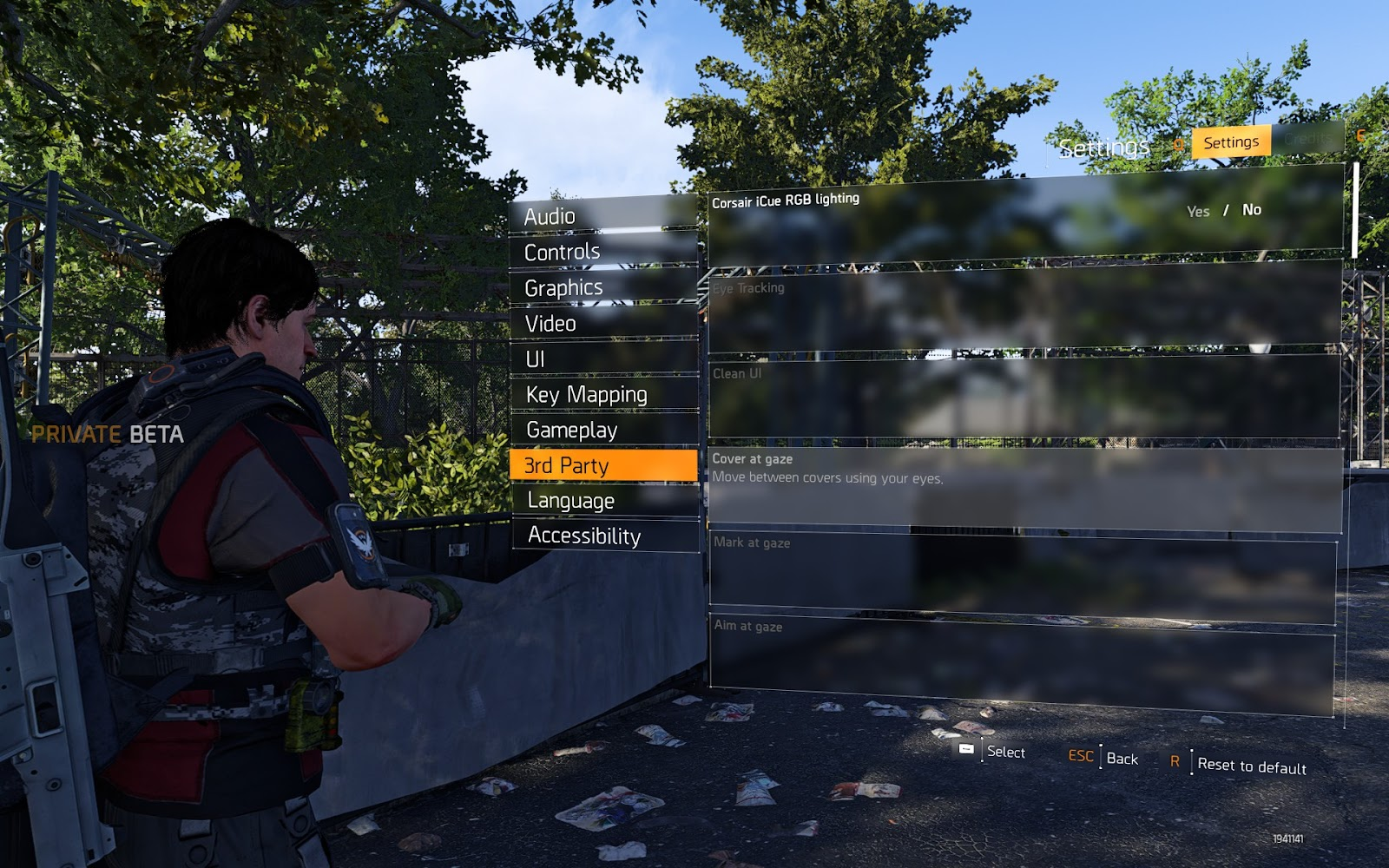 Options to control aim, grenade, enemy tagging and more using eye tracking hardware
