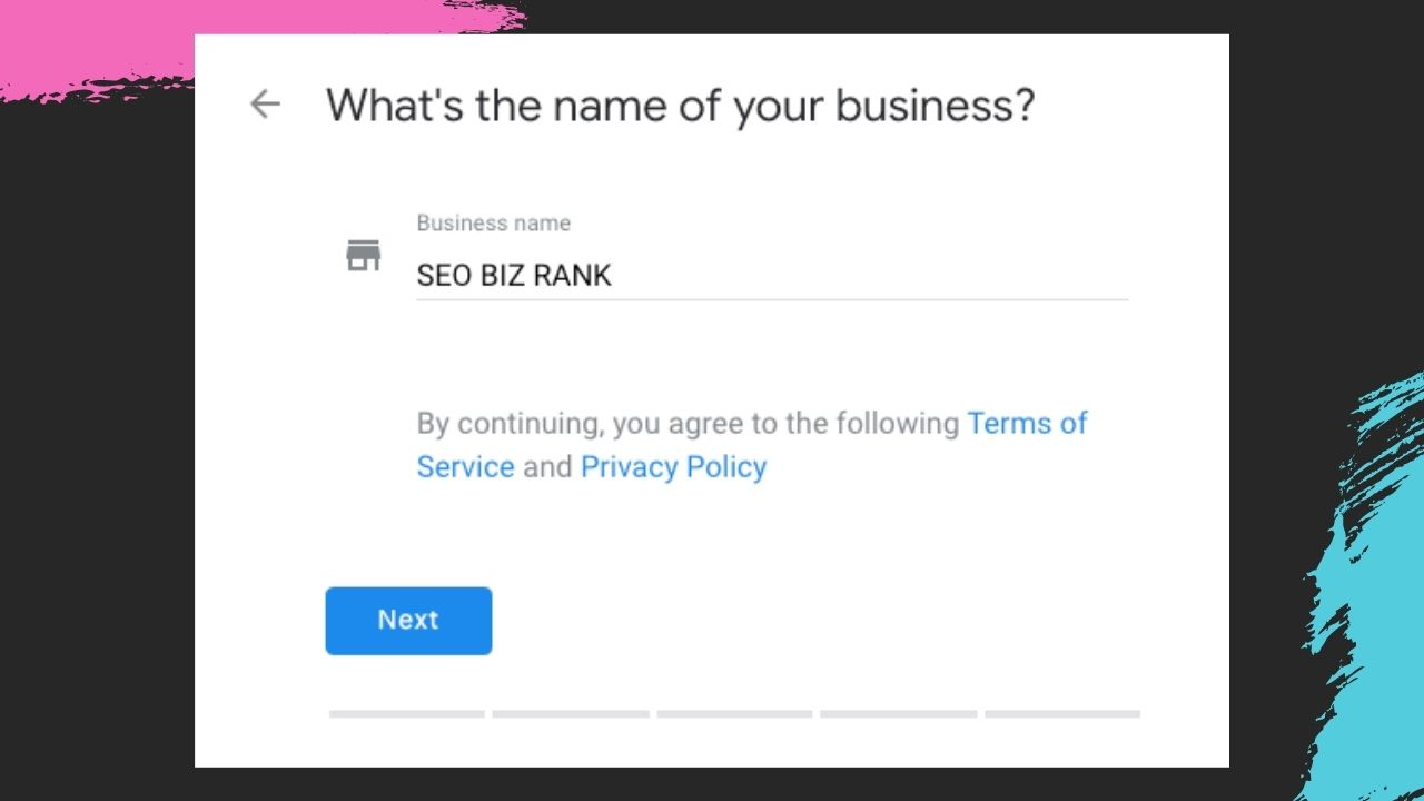 Add name of your business