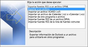 Exportar archivo