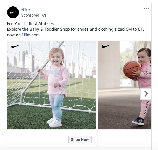 Nike - emotional Facebook ad example 1