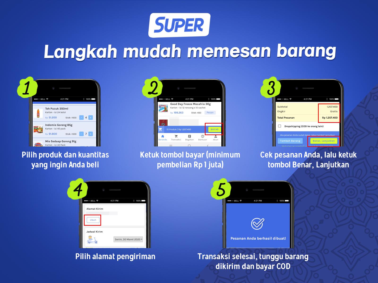 sembako super, aplikasi super
