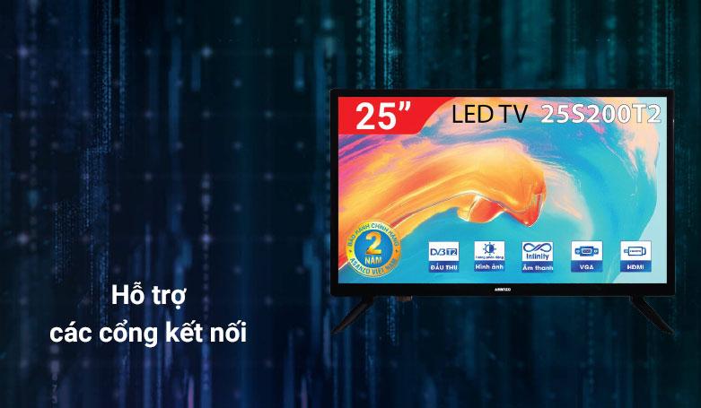 TIVI LED ASANZO 25 Inch 25S200T2   Hỗ trợ các cổng kết nối