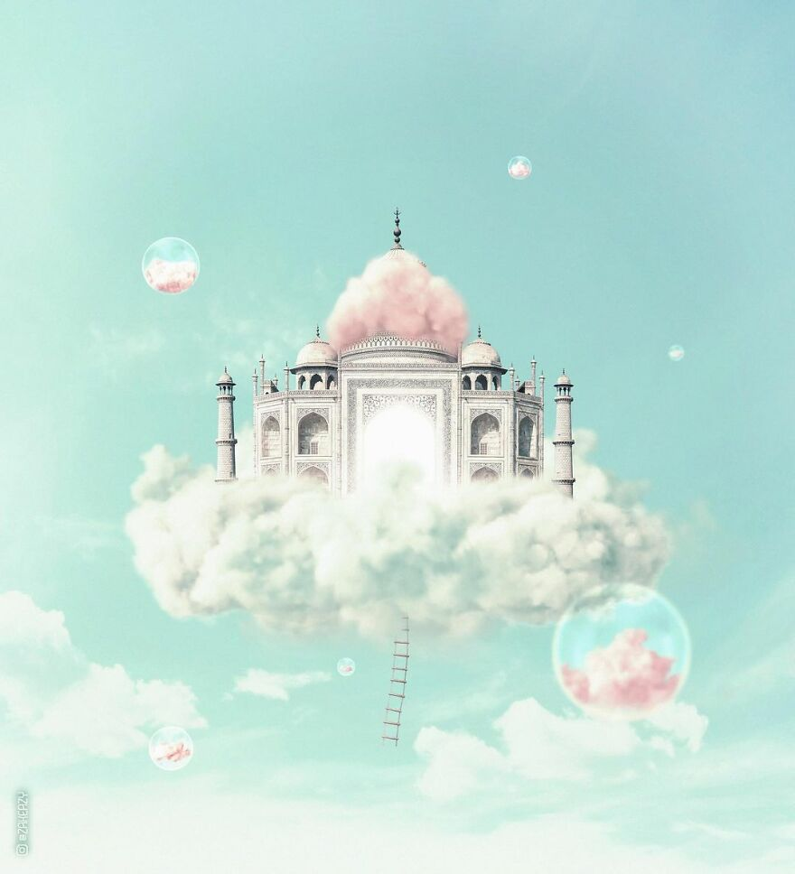 French Digital Artist Uses Architectures And Monuments To Show A New Surreal World (55 Pics)