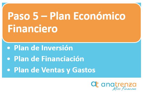 Paso 5 del plan de negocio - Plan económico financiero