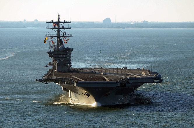 Lần đầu tiên, Mỹ rút toàn bộ tàu sân bay về căn cứ
