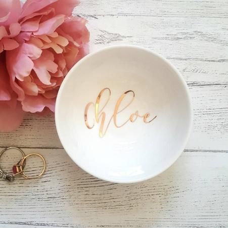 Ring dish personalised ring dish trinket dish rose gold image 0