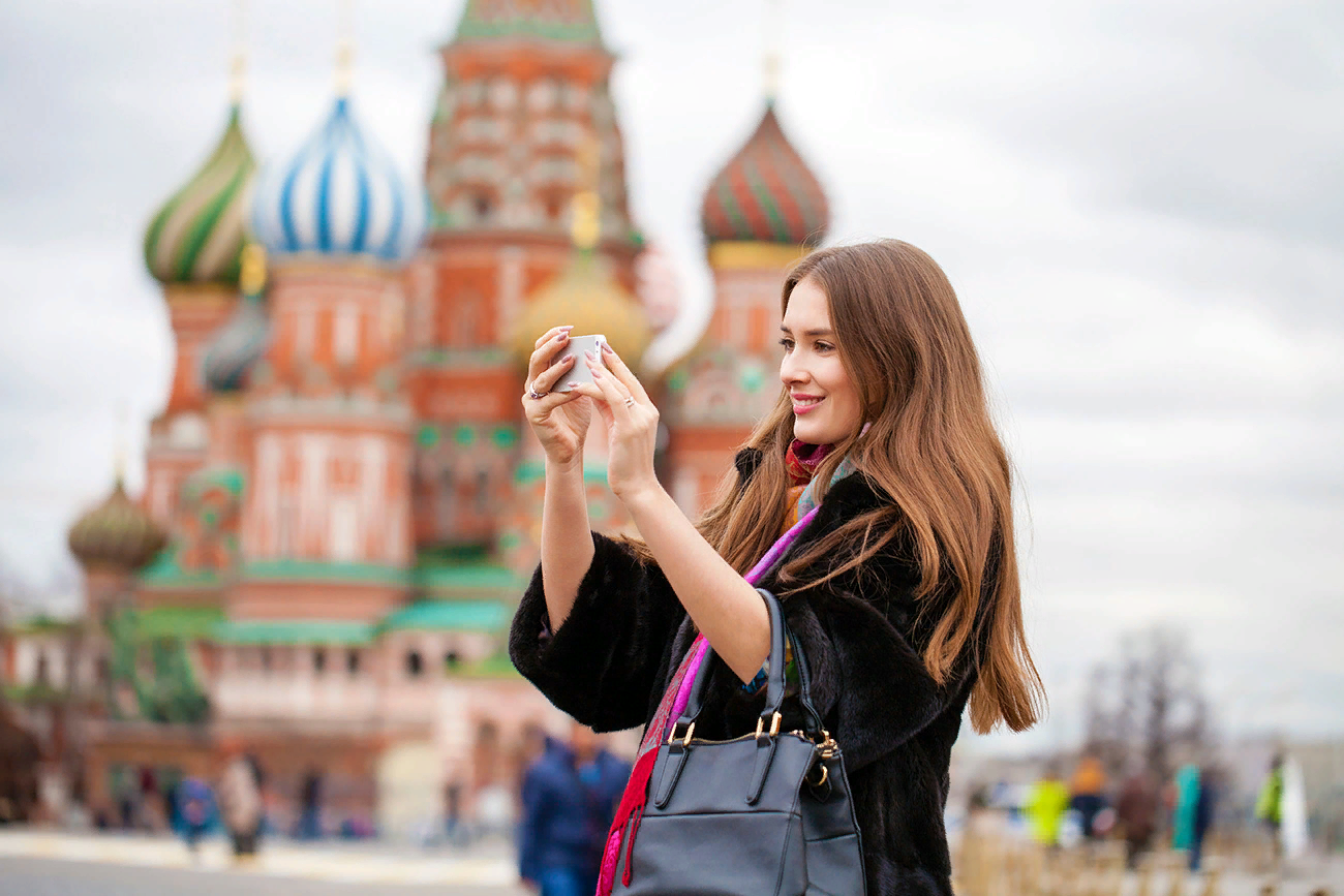 Tourist in Moscow