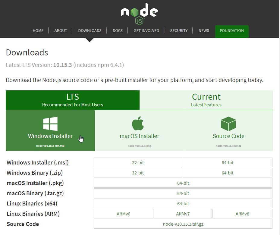 install npm windows 10 cmd