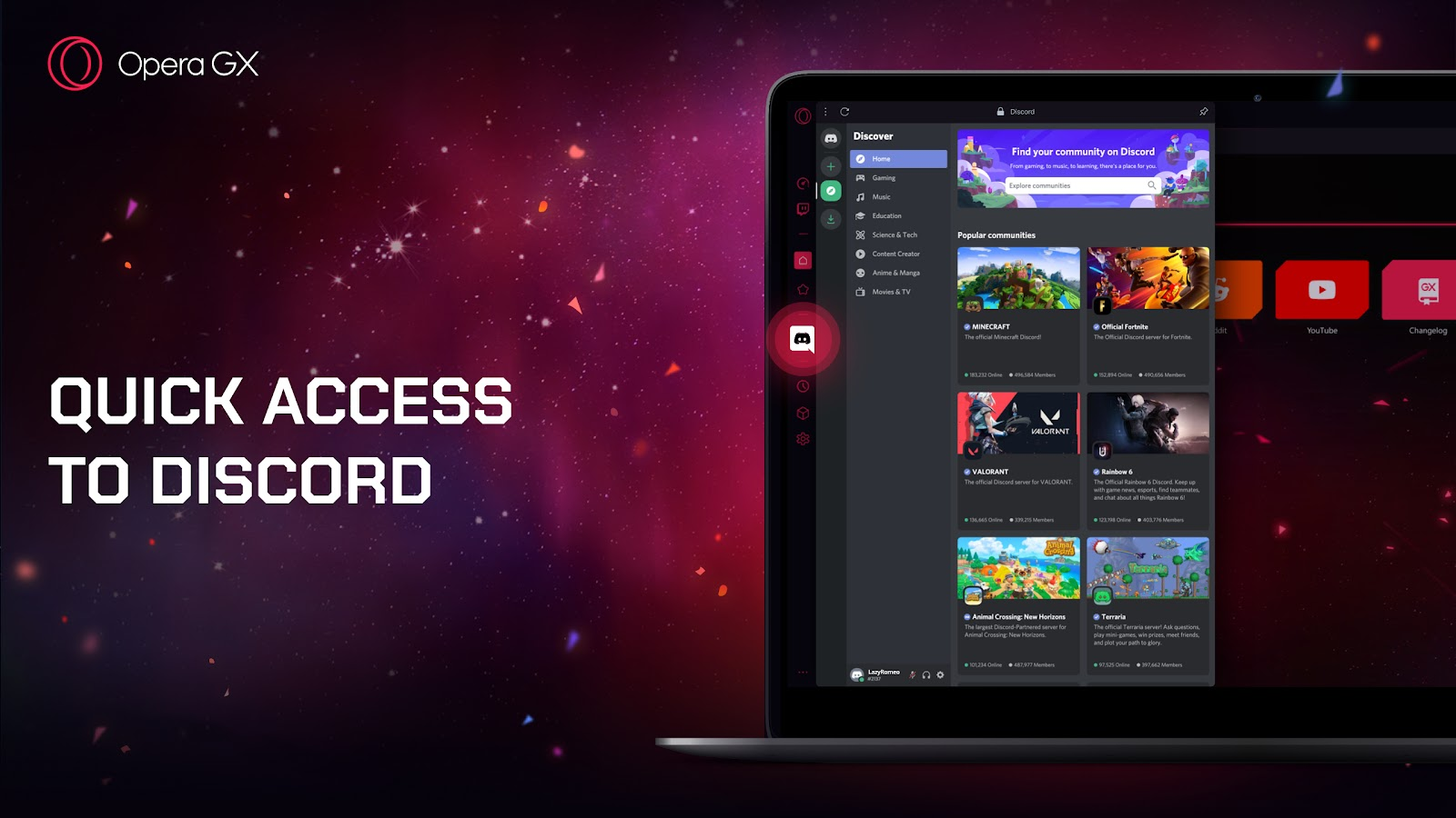World's first gaming browser Opera GX adds Discord support in major 1st  birthday release - Opera Newsroom