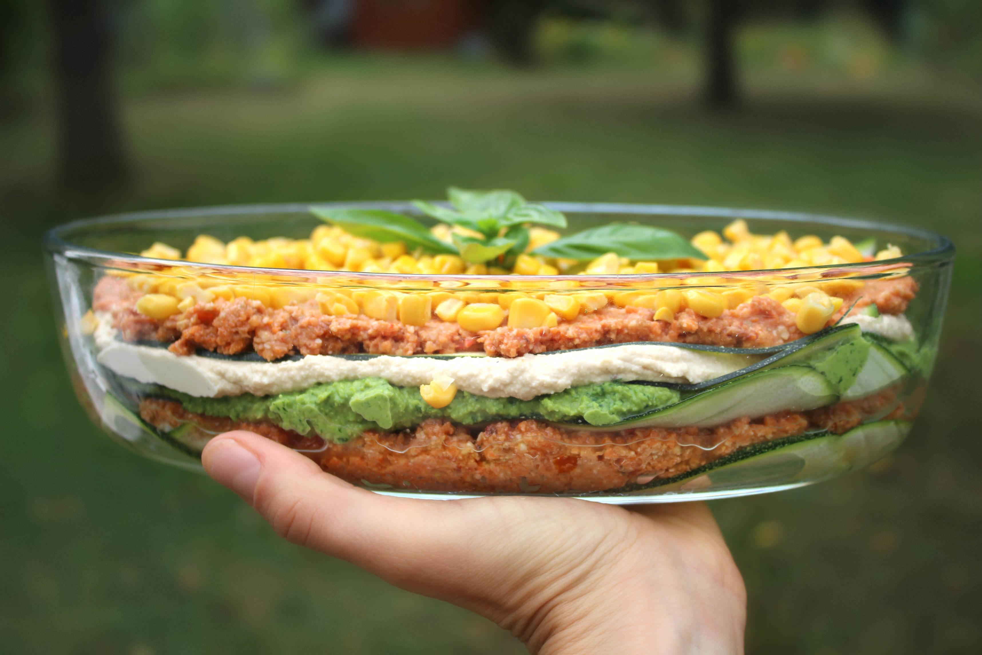 Lasagnes végétales et crues
