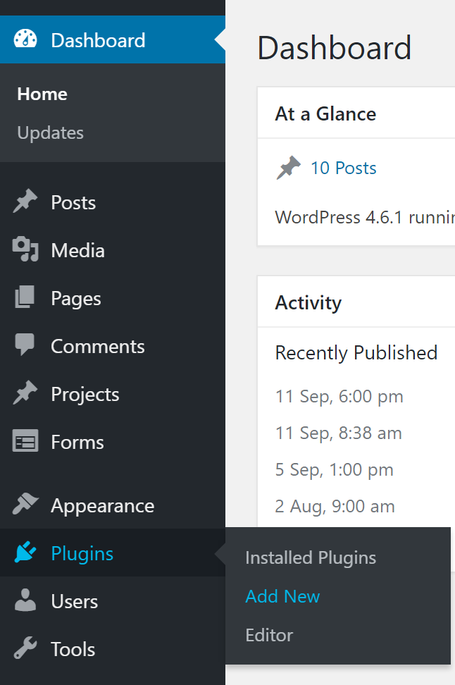 Wordpress Plugin Dashboard