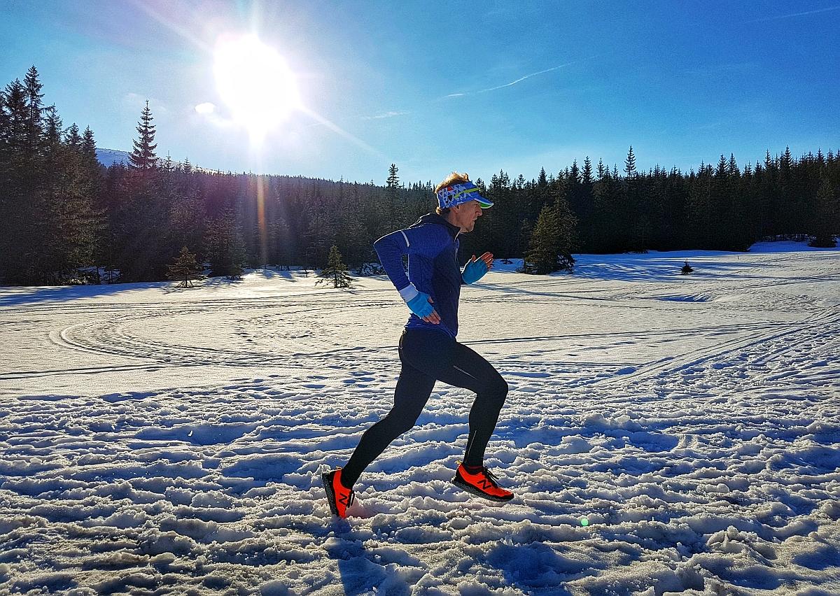 Biegacz na śniegu Kris Kwacz