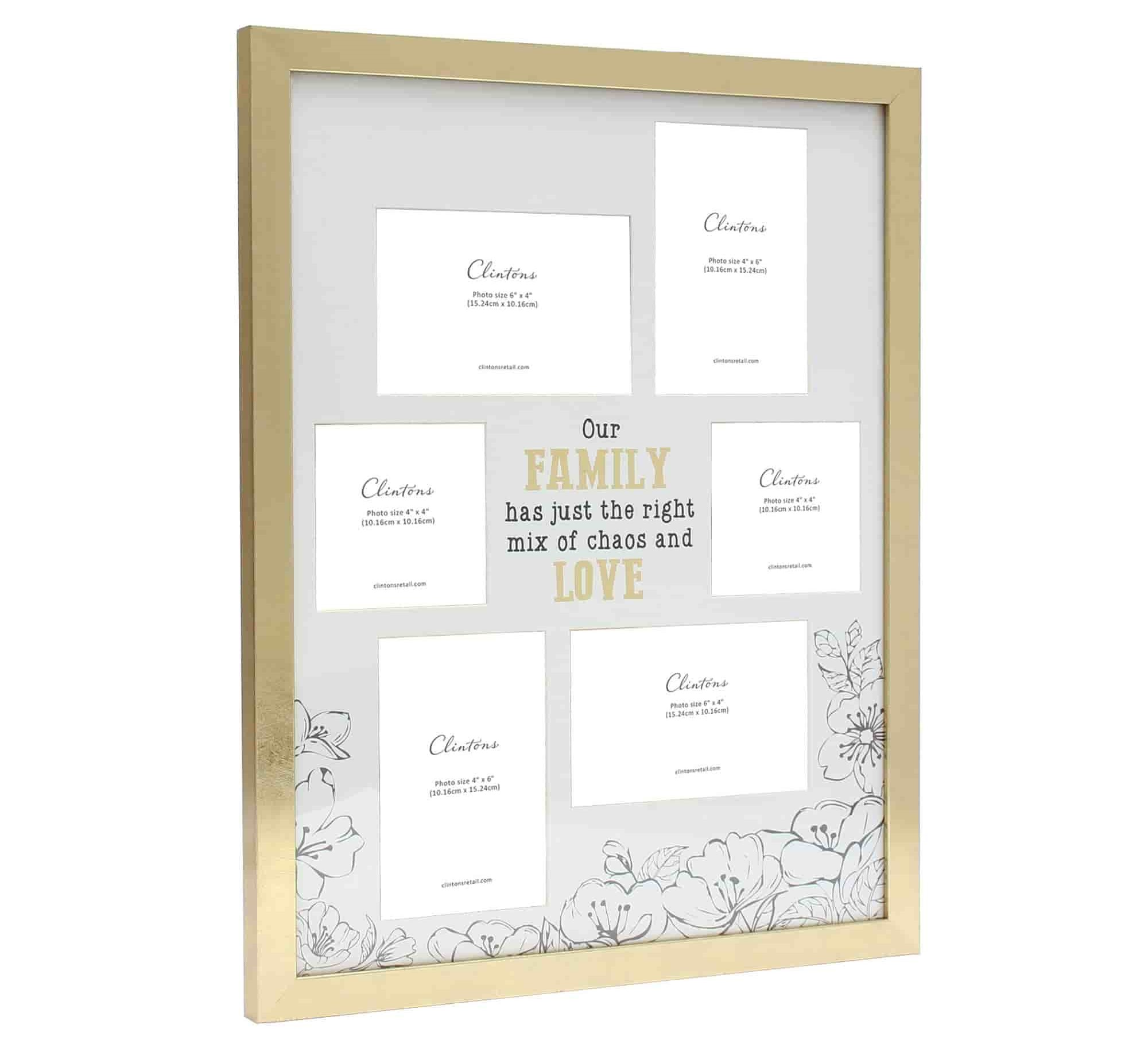 Clintons' collage frame family 6 picture display