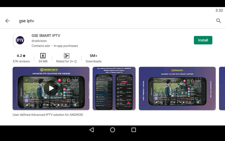 GSE IPTV app on PC