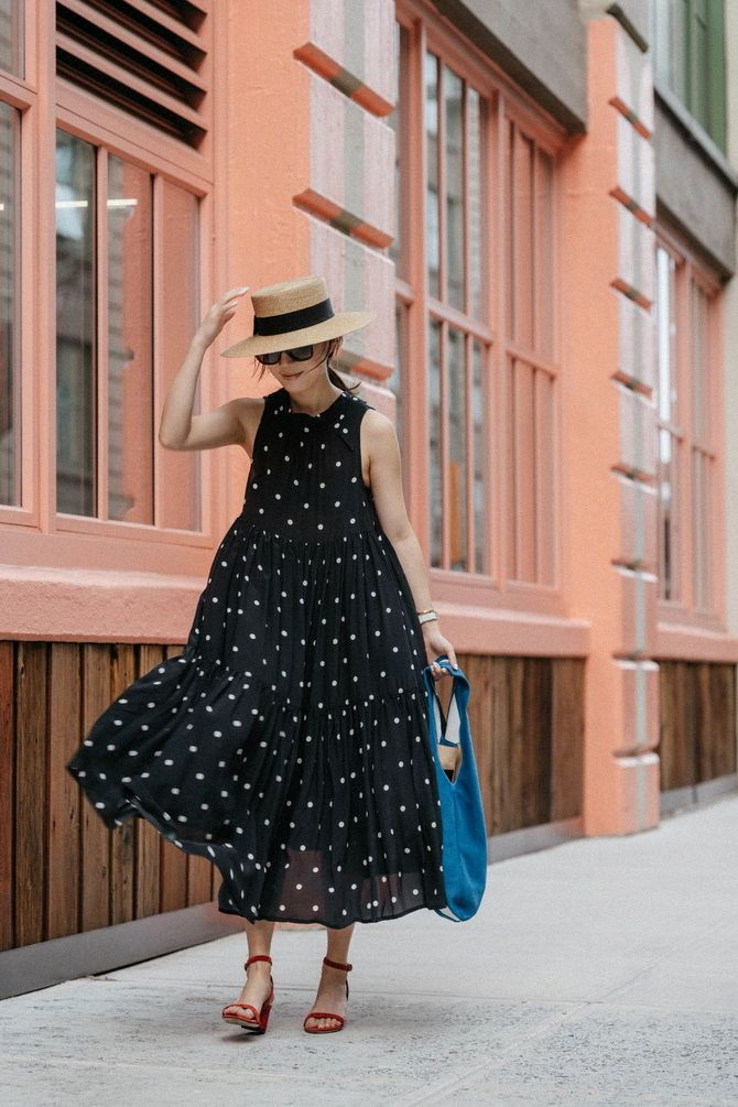 How to wear a polka dot dress
