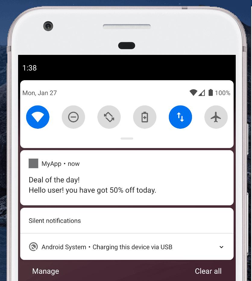 push notification exmamples