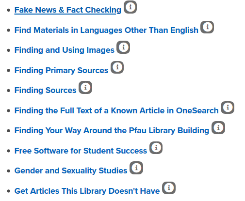 A range of research assistance links are shown.