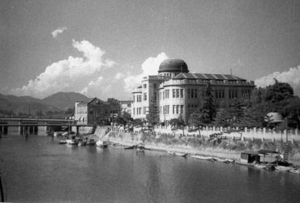 Cupula de la Bomba Atomica antes de la explosión