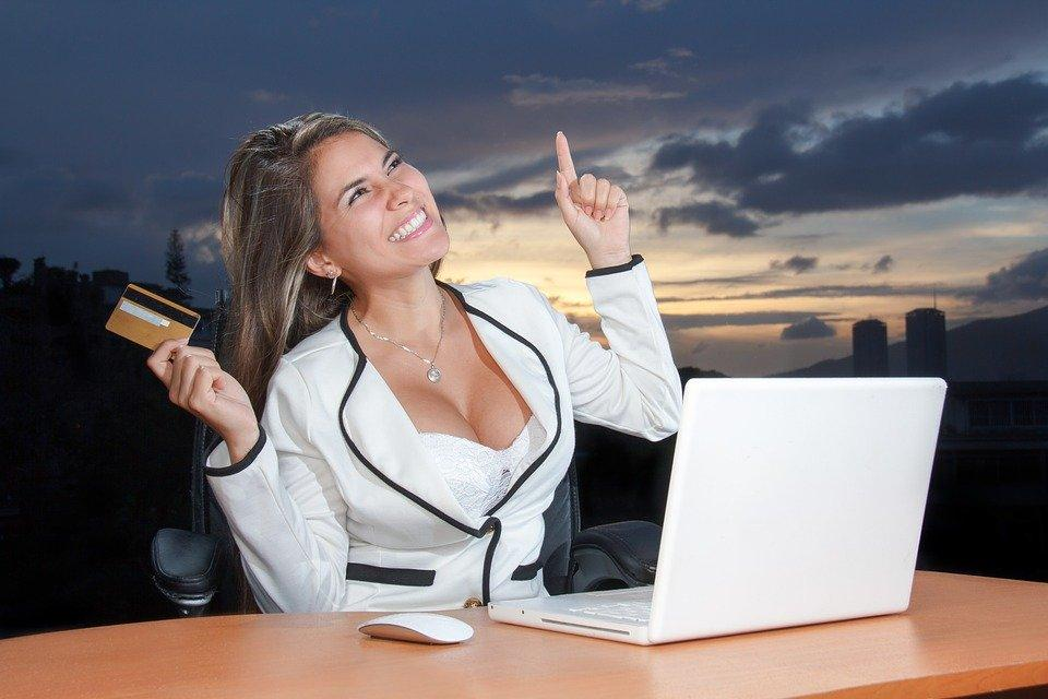 Negócios, Mulher, Atraente, Corporativa, On Line