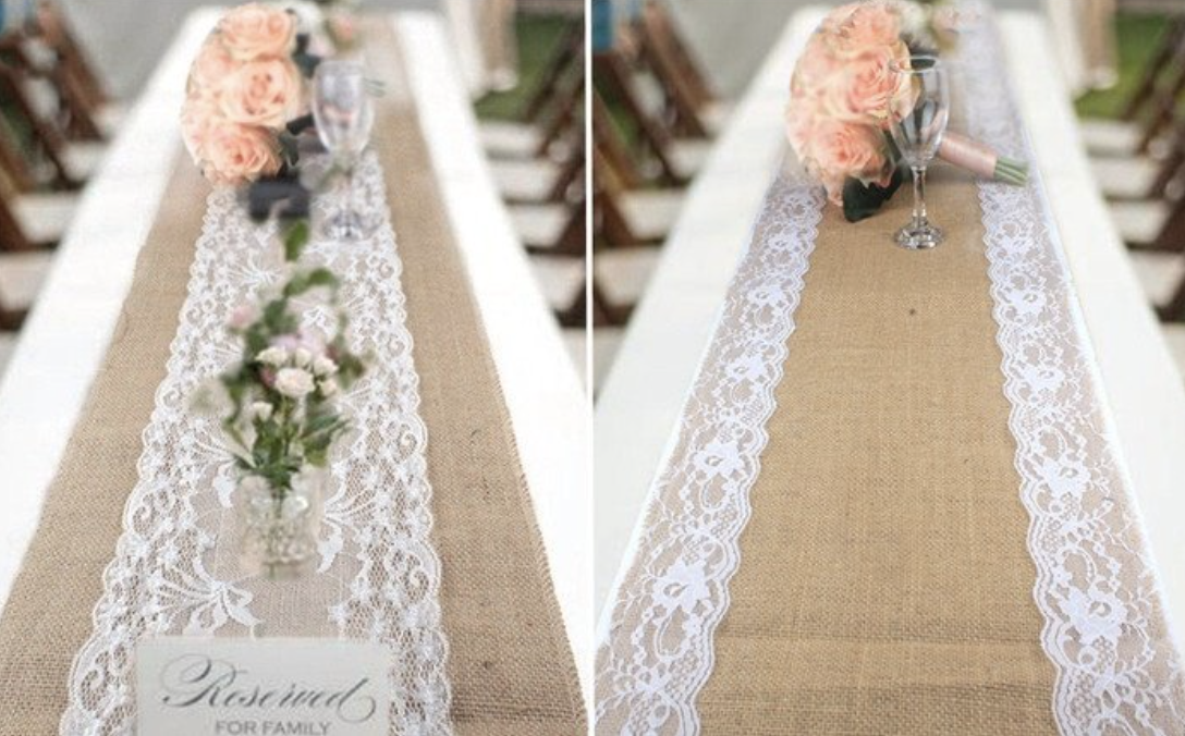 lace table runner for wedding table decorations
