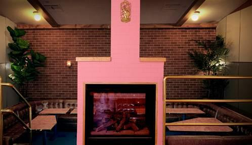 Image result for the flower shop pink fireplace nyc