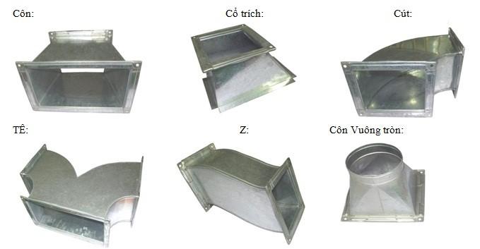 phụ kiện ống gió vuông