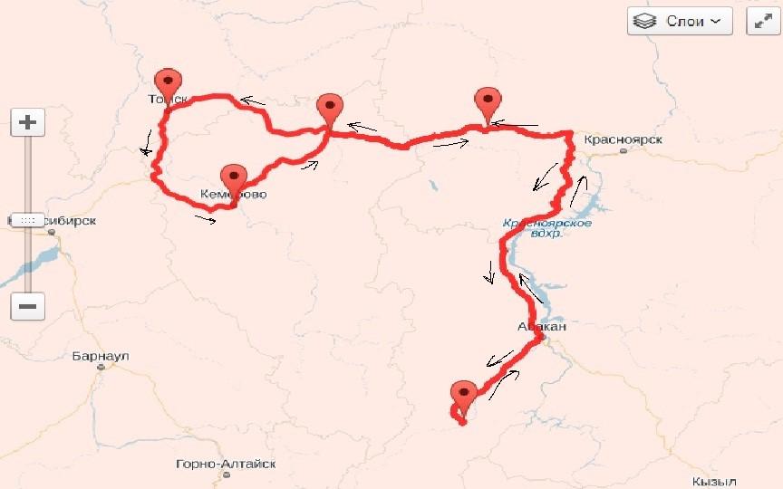 Отчет о прохождении автомобильного туристского спортивного маршрута 1 к.с по Западной и Восточной Сибири
