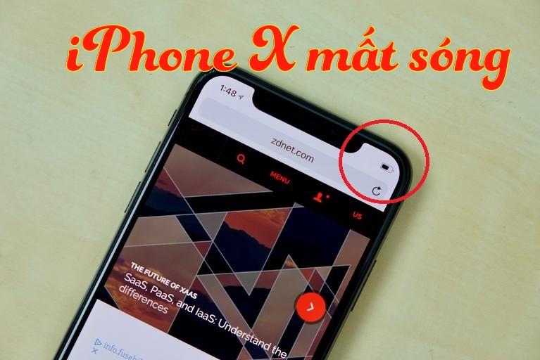 Sửa lỗi iPhone X mất sóng trong giây lát