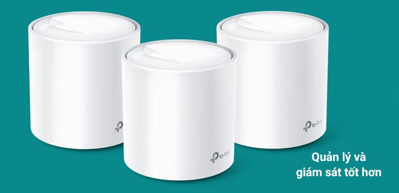 Thiết bị mạng Wifi Mesh 6 TPLink Deco X60 (3-pack)   Quản lý và giám sát tốt hơn