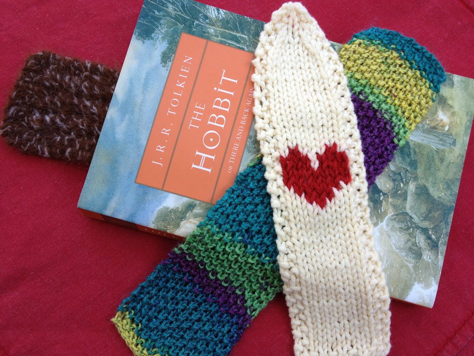 Knitting Bookmarks : Less noise more green guest post a trio of knitted