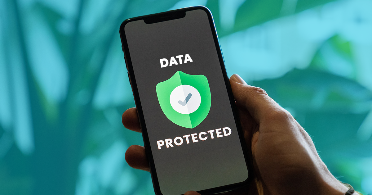 badge saying data is protected