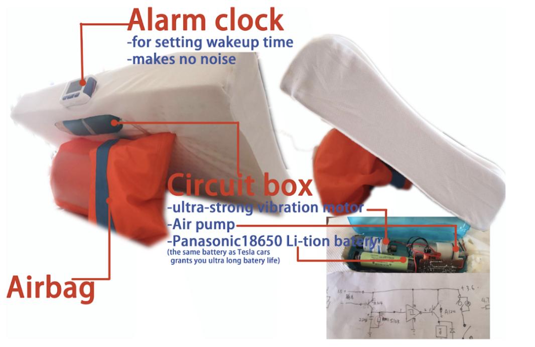 smart pillow Piolock startup prototype
