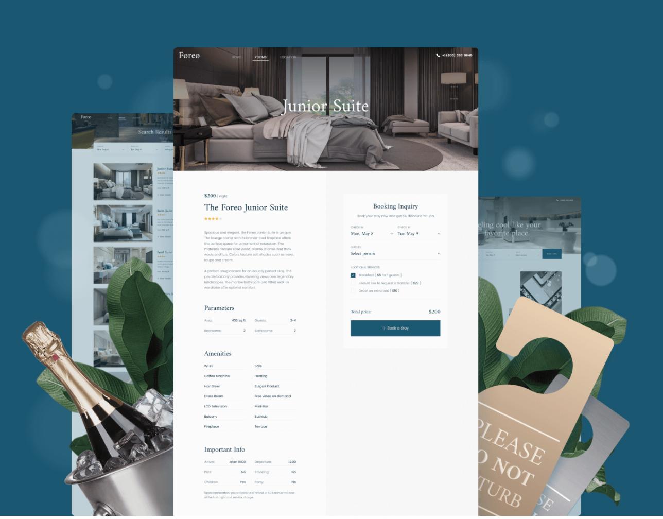 Mini-hotel booking website