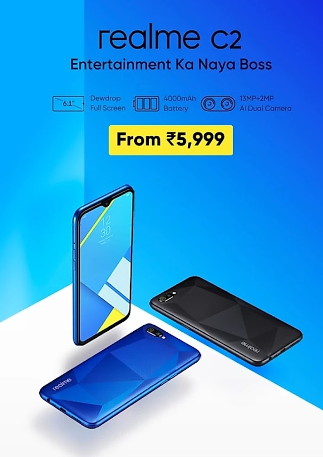Realme C2 has launched on Flipkart at Rs 5999, Key features and specifications.