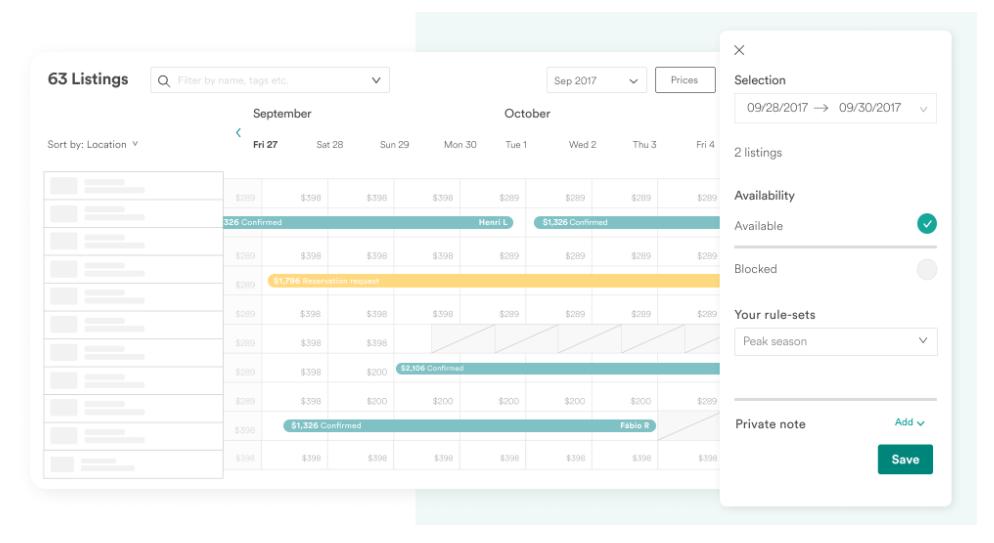 Airbnb Professional Hosting Tools multi-calendar