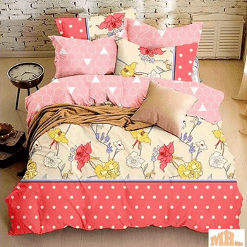 Bedspread in bold colors