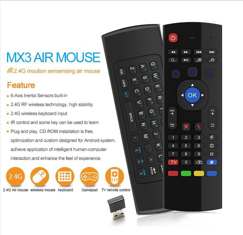 Keyboard Clavier Fly AirMouse Mini TélécommandeSouris sans fil G Sensor Capteur MIC MXQ M8S Android TV BOX www.avalonkef.com 656565.jpg